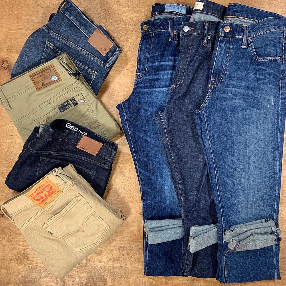Buffalo Exchange Sell By Mail Men's Jeans Men's Denim Levi's AG DarkWash LightWash